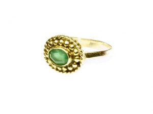 Ring With Small Green Onyx – R1015