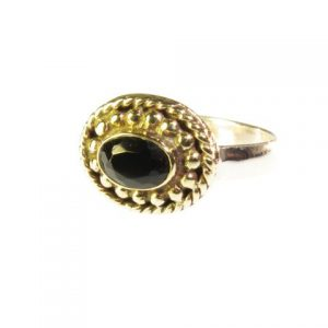 Ring With Small Black Onyx – R1015