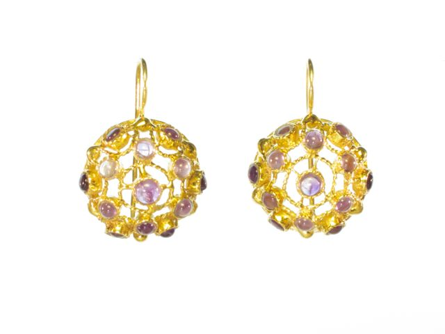 Victorian Earrings With Amethyst – E91104