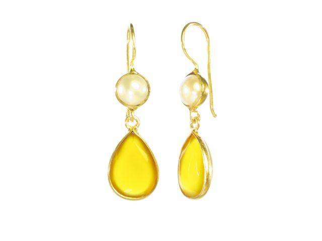 E6917-V Gele Onyx en parel