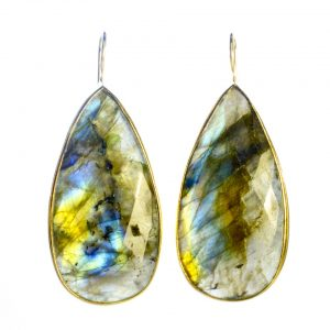 Long Labradorite Drop Earrings With Setting – E1197 –  Temporarily Unavailable