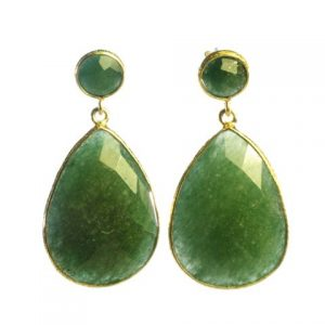 Earring Studs Jade Big Drops