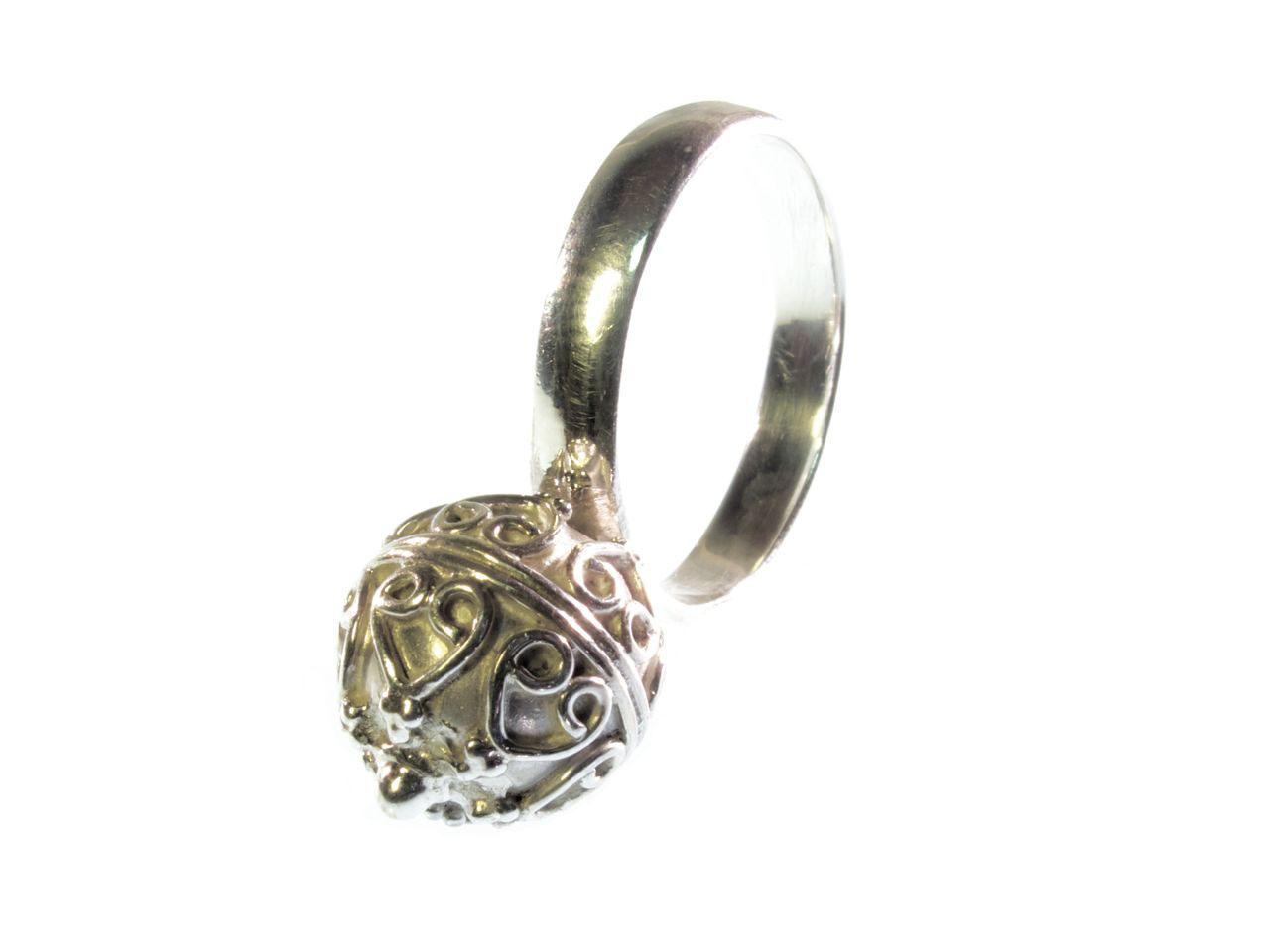 R1144-Z Etruskische bal ring