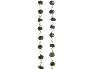 N8330-V Fijne Kraal Ketting Onyx