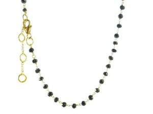 Short Necklace Facet Black Onyx – N8330
