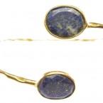 armband lapis lazuli goud op zilver