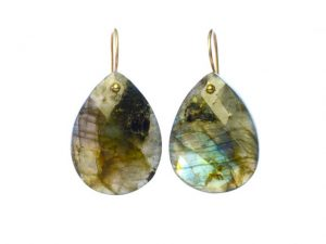 Earrings Labradorite Teardrops – E1109