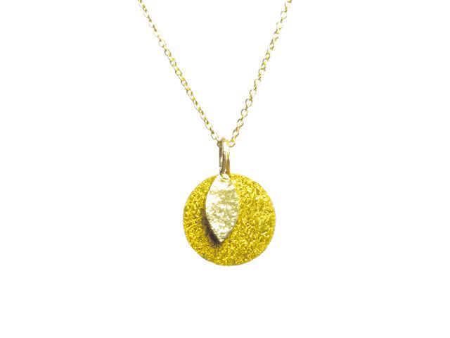 Circle Pendant Goldplated