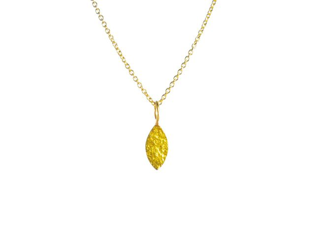 Pendant Small Gold Leaf – P1012