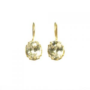 Earring Gold With Facet Cut Zircon – E9509