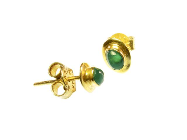 Stud Earrings Green Onyx – Oorknopjes Stekers