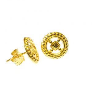 Stud Earrings Classic Hippie Wheels Chic – E1460