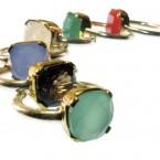 Chalcedoon, onyx, maansteen en groene onyx ring R7705-V