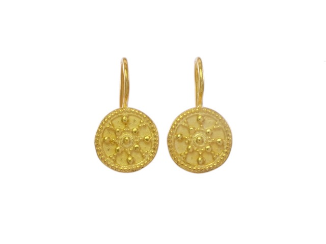 Small Etruscan Coin Earring – E8320