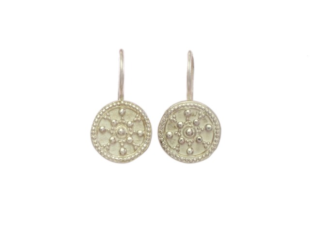 Silver Coin Small Earring – E8320