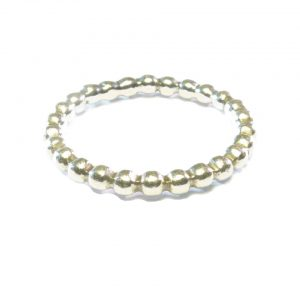 Silver Beaded Stack Ring – Aanschuif Ring 2mm – R1017