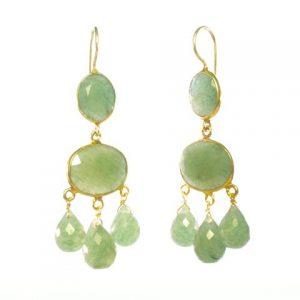 Gabrielle D'Estree Earrings Jade – E1047