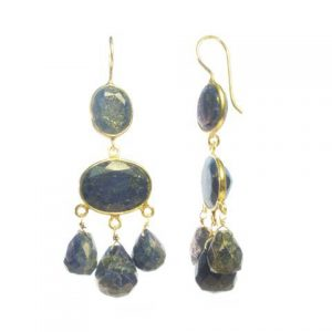 E1047-V Gabrielle D'Estree Gemstone Lapis Lazuli Earrings