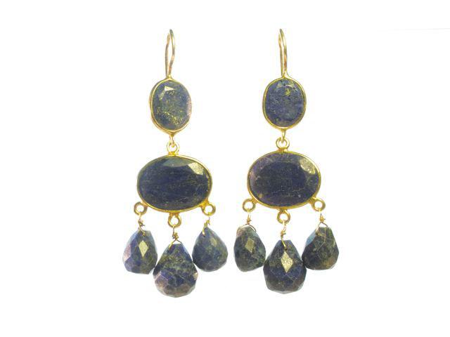 Gabrielle D'Estree Setting Lapis Lazuli Earrings – E1047