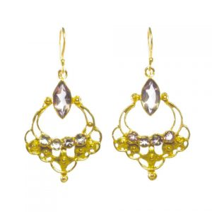 Earrings With Small Facet Cut Amethyst – E8365