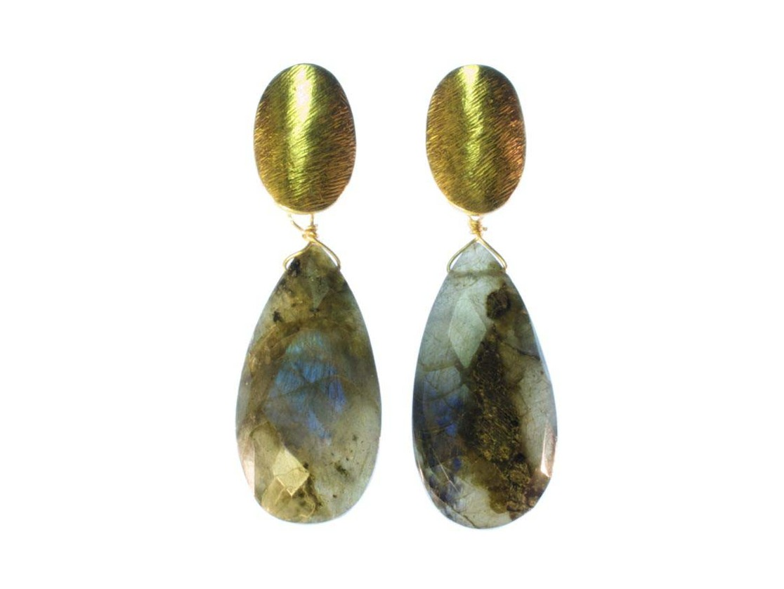 Earring Labradorite Long Studs – Temporarily Out Of Stock