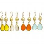 E6917-V in verschillende kleuren verkrijgbaar klassieke oorbellen en parel