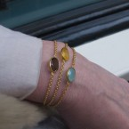 B1446-V dunne armband met gele onyx