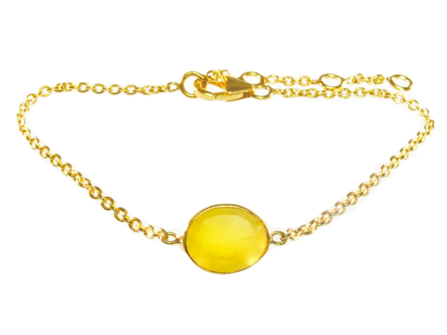 B1446 V Fine Bracelet Yellow Onyx