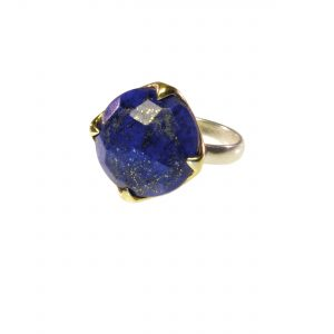 Sweet Romantic Flat Ring In Lapis Lazuli – R1134