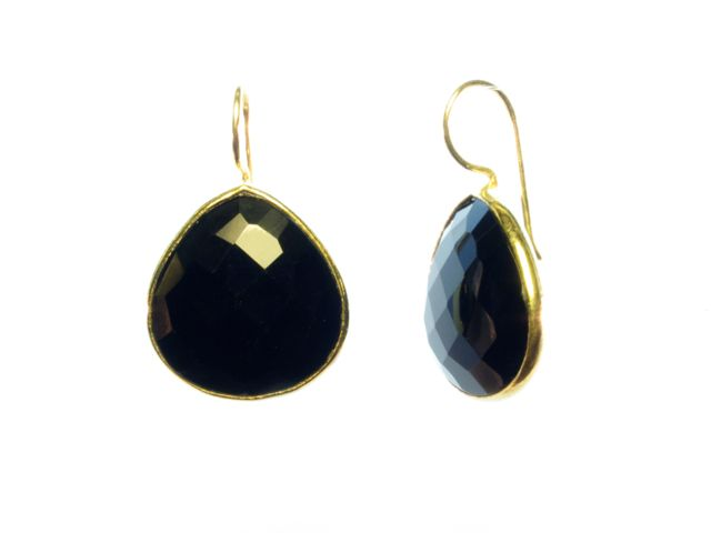 Fat Tear Drop Onyx Earrings – E1418