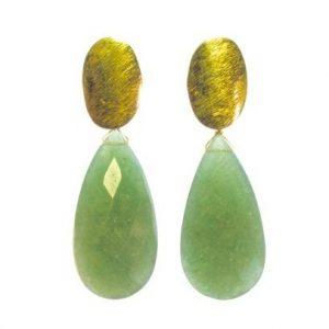 Earring Jade Long Studs