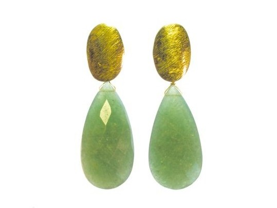 Earring Jade Long Studs