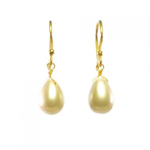 Pearl Pear Drop Earrings – E1290
