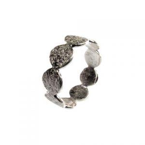 Silver Flat Circles Ring – R1454
