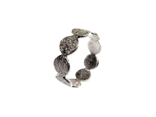 Silver Flat Circles Ring