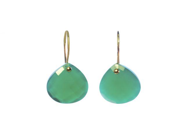 E8001-G peer druppels 14 krt gouden oorbellen