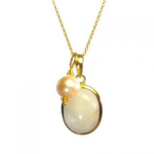 Pendant Gold Combi Set With Fine Gold Plated 65cm Chain Necklace