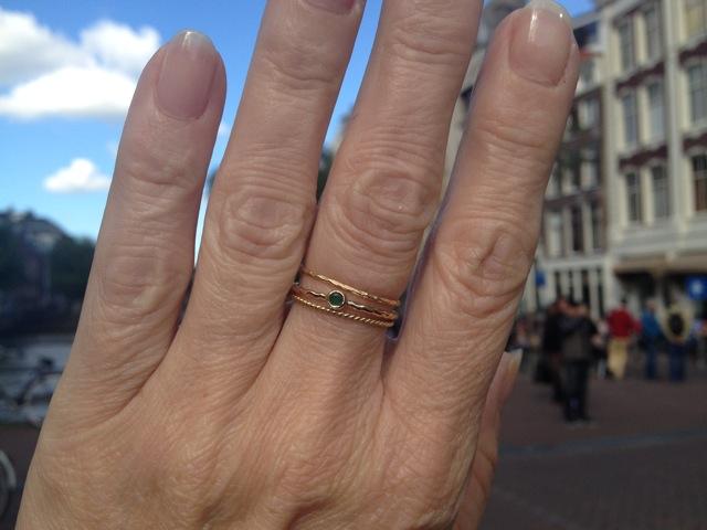 18k Gold Ring R104 G