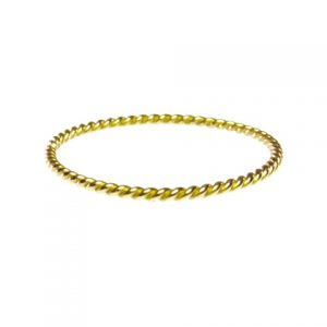 18k Gold Fine Thin Skinny Twisted Stack Ring – 0.5mm – R1599