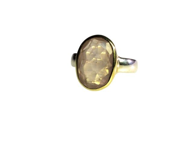 Ovale rozenkwarts ring R7704-V