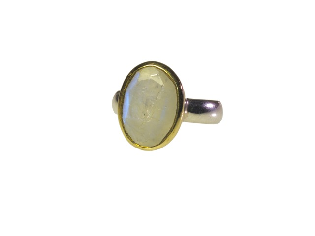 Ovale maansteen ring R7704-V