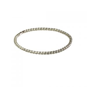 Silver Fine 0.5 Mm Skinny Twisted Stackring – R1599