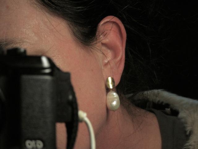 Natural Pearl Stud Earing E1510 V
