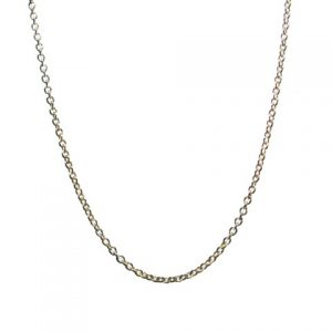 Sterling Silver Necklace Chain 42cm-72cm Fine 1mm Jasseron