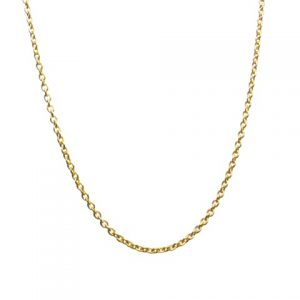 18k Gold Plated Necklace Chain Fine Jasseron Of 1mm Thick – 39cm-79cm Length