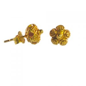 Small Stud Earrings Asian Etruscan – E9531