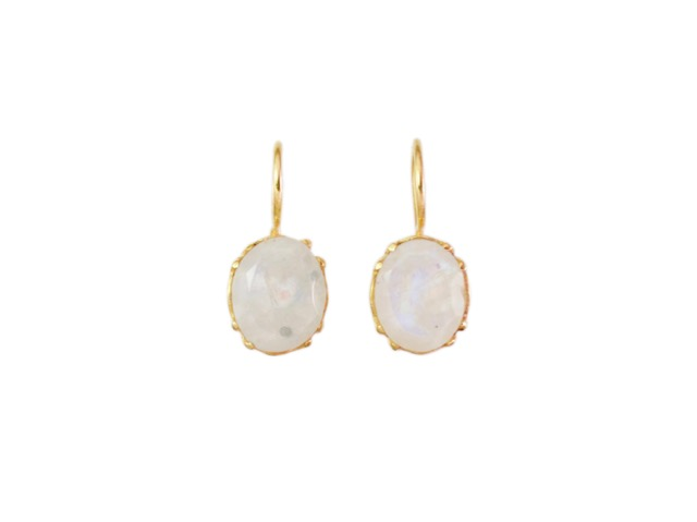 Earring Gold Plated Moonstone – E9509