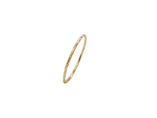 18k Gold Fine Thin Skinny Stack Ring – R106