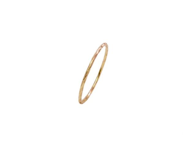 18k Gold Fine Thin Skinny Stack Ring – R15100