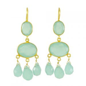 Gabrielle D'Estree Earrings Chalcedony – E1047
